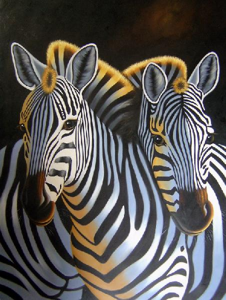 zebra oil painting - photo #14