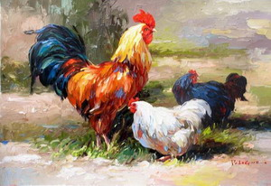 Chicken Oil Painting Oil Painting Decoration Chicken Chicken Paintings Decorate Oil Painting Animal Oil Painting Oil Paintings
